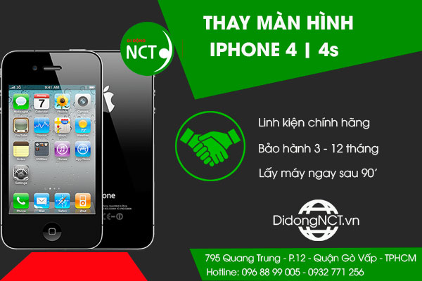 Thay màn hình Iphone 4 | 4S
