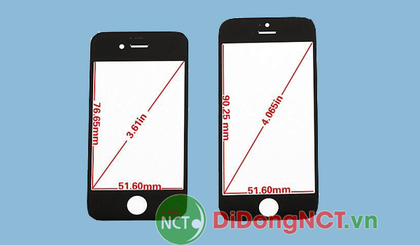 Màn hình iphone 5 bao nhiêu inch