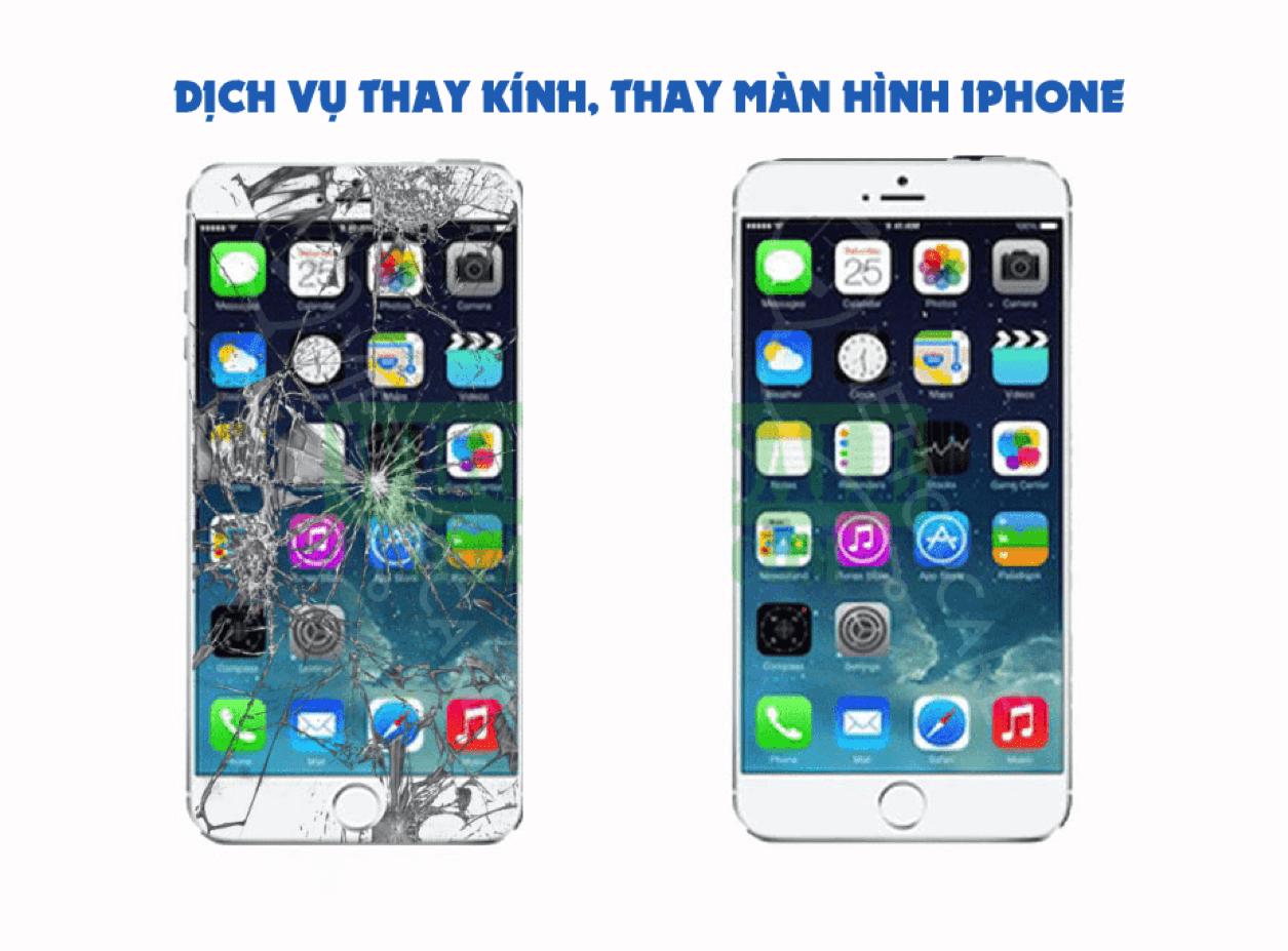 thay mặt kính điện thoại iphone